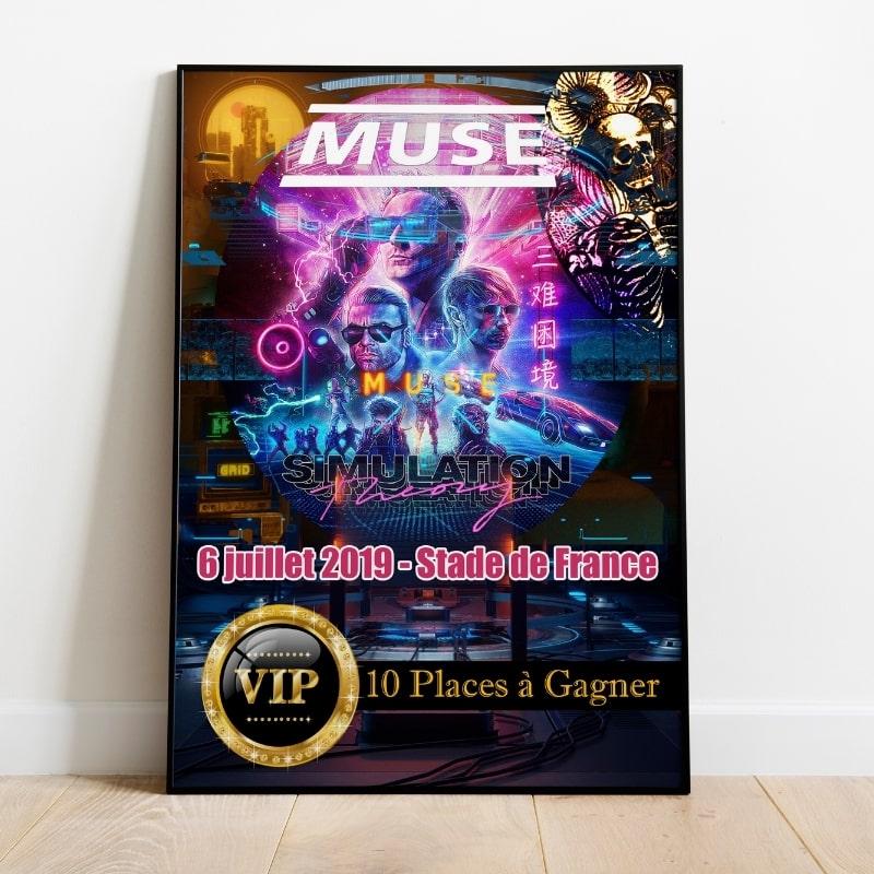 Affiche de concert Muse