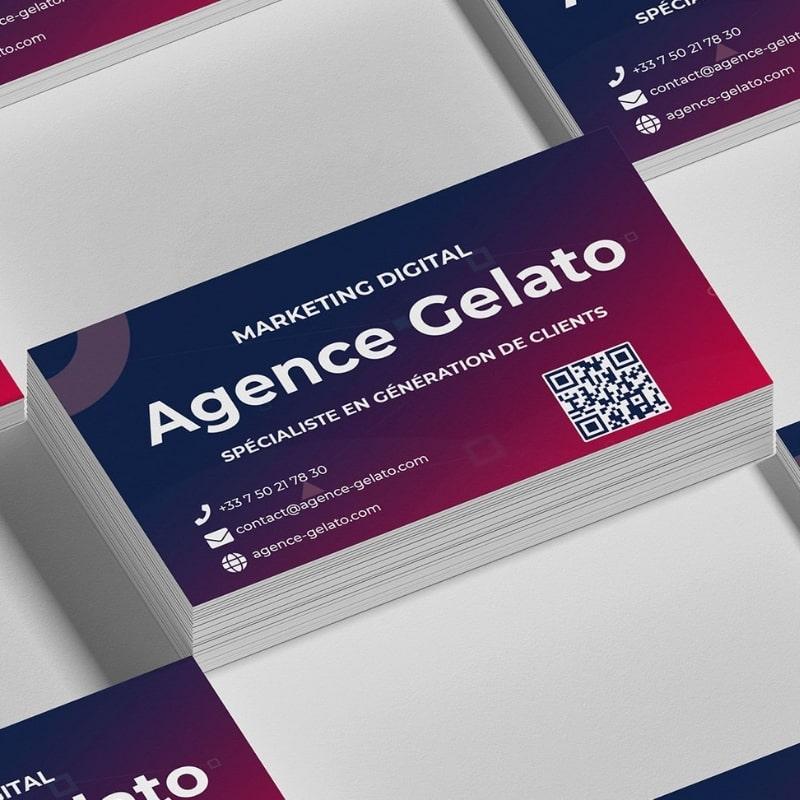 Carte de visite agence Gelato